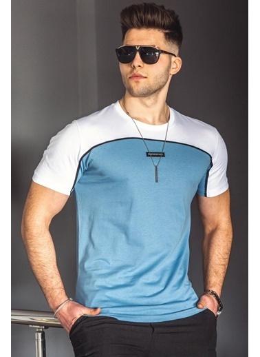 Madmext   Erkek Tişört 4992 Mavi